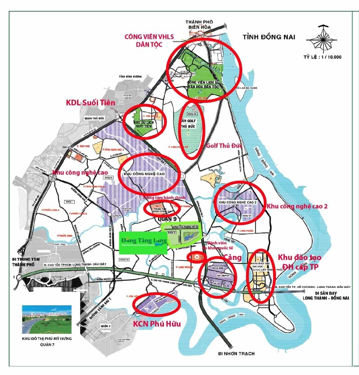 vị trí khu đô thị mới đông tăng long.